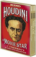 HOUDINI THE MOVIE STAR : A THREE-DVD COLLECTION NEW SEALED 3-DISC DVD SET OOP