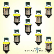 (10 Pack) - 6.3 Volt LED Bulb Flat Top 44/47 Base (BA9S) Pinball - YELLOW