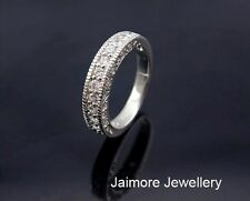 100% Real 925 Sterling Silver CZ Eternity Wedding Dress RING Size 6.5 Gift Pouch