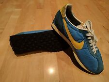 Vintage 1970's Nike Blue Waffle Trainer Running Shoes Sneakers Size 9 US