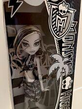 New Black White Monster High Frankie Stein Doll Skull Shores Doll Retired In Box