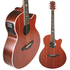 Lindo Feeling Electric / Electro Acoustic Guitar with LCD Tuner Preamp + Gig Bag