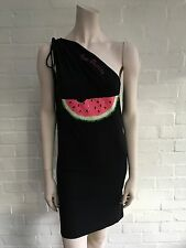 Just Cavalli BEACHWEAR ONE-SHOULDER WATERMELON DRESS I 44 L LARGE