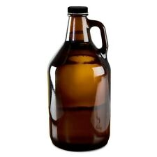 BEER GROWLER 1/2 GALLON AMBER GLASS JUG FOR  DRINKING PUB CRAWLING and CAROUSING