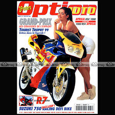 OPTION MOTO N°37-b YAMAHA R1 R7 APRILIA RSV 1000 TOURIST TROPHY GRANDS PRIX 1999