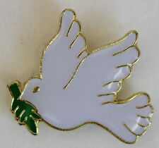 Dove W/Olive Branch Lapel Pin Christianity Religious Hat pin Tie Tac Church