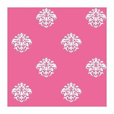 White Spot Damask on Hot Pink Wallpaper KD1720