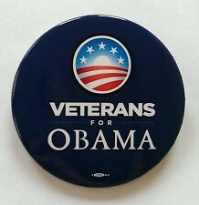 Official Campaign Veterans for Obama Button - Pin