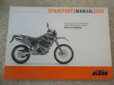 05 KTM 640 LC4 ENDURO CHASSIS SPARE PARTS MANUAL BOOK