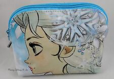 New Disney Frozen Elsa & Anna Cosmetic Make-Up Case Tote Bag Purse