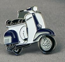 Metal Enamel Pin Badge Brooch Vespa Scooter Motorbike Biker Rider Blue and White