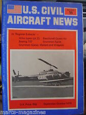 AVIATION US CIVIL AIRCRAFT NEWS # 11 1978 GRUMMAN GOOSE AGCAT BOEING 737