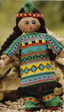 Knitting Pattern For A Lovely Red Indian Doll With Different Dress Up Outfit