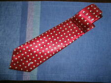 Yves St-Laurent Classic Red Silk Tie