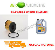 DIESEL OIL FILTER + LL 5W30 ENGINE OIL FOR VAUXHALL CORSA 1.3 69 BHP 2003-07