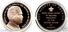 Bsa 1st U.S. Scouter President Eagle Boy Scout Gerald R. Ford Bronze Coin Medal