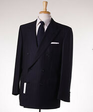 NWT $6500 BRIONI Black-Violet Purple Stripe Super 150s Wool Suit 42 R 'Tiberio'