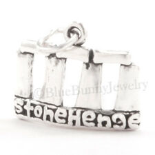 STONEHENGE Solid 925 Sterling Silver EUROPE England Travel Jewelry Pendant Charm