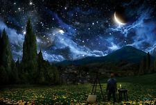 STARRY NIGHT - FANTASY ART POSTER - 24x36 STARS SKY SPACE MOON 10590
