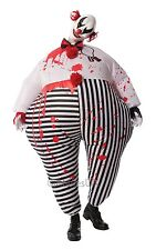 Inflatable Horror Clown Halloween Fancy Dress Costume & Mask Size M-L P9504