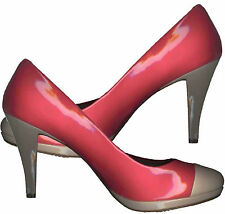 NWOB CLASSIC FESTIVE♥2 TONE♥BLOCKING STYLE♥HIGH HEEL♥PUMP SHOES_S39 / 38
