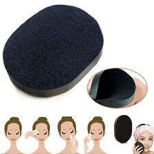 Soft Bamboo Charcoal Wash Face Deep Cleaning Sponge Puff Makeup Foundation Care