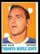 1970 71 OPC O PEE CHEE HOCKEY #223 BOB BAUN EX+ TORONTO MAPLE LEAFS HOCKEY