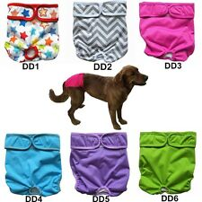 """3 Dog Diapers Nappy Reusable Washable Puppy Pants Male Female Small S 10"""" to 15"""""""
