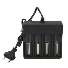 4 Slots Rechargeable 14500 16340 18650 Li-ion Battery AC Charger EU/US Plug