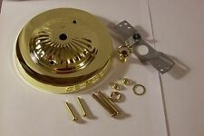 """5"""" BRASS PLATED CANOPY KIT FOR LIGHT FIXTURES LAMP PART NEW 54615J"""