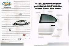 PUBLICITE ADVERTISING  1996  USA  PLYMOOUTH   BREEZE  ( 2 pages)