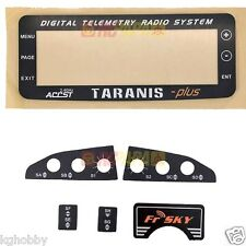 FrSky X9D Plus Taranis TX Remote Replacement LCD Monitor Screen Plate & Sticker