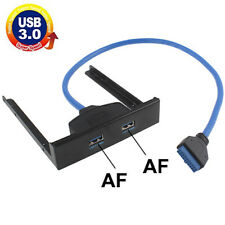 USB 3.0 Panel Frontal PC Disco Flexible Bahía 20 Pin 2 Ports Hub Soporte Cable