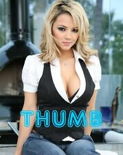 Ashlynn Brooke - 10x8 inch Photograph #062 in Cleavage Boosting Shirt & Jeans