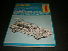 Rover 2000 2350 2597 2600 SD1 Haynes Service Repair Workshop Manual 1977 - 1979