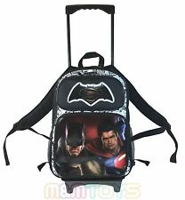 "Batman Vs. Superman Black Large School Trolley w/ Detachable 16"" Backpack"