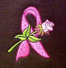 Breast Cancer S Sweatshirt Pink Ribbon Rose Brown Crew Neck Awareness New