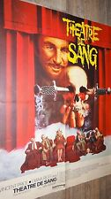THEATRE DE SANG  !  vincent price diana rigg  affiche cinema horreur 1973