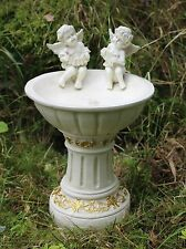 Solar Powered Garden Ornament Fairy Secret Garden Cherub Angel Bird Bath