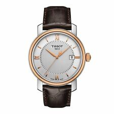 NEW TISSOT BRIDGEPORT ROSE TWO TONE MENS WATCH T0974102603800 T097.410.26.038.00