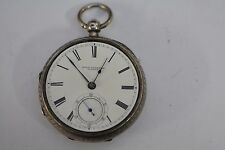 Antique John Forrest Silver Fusee Pocket Watch Maker to the Admiralty London1899