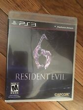 Resident Evil 6 (Sony PlayStation 3, 2012) Complete