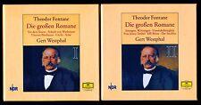 Gert Westphal liest THEODOR FONTANE • DIE GROSSEN ROMANE • 76 CDs in 2 BOXES!