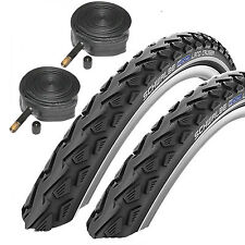 "Schwalbe Land Cruiser 26"" x 2.0 Mountain Bike Tyres with Schrader Tubes (1 Pair)"