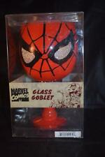 MARVEL COMICS RED LARGE GLASS GOBLET WINE GLASS THE AMAZING SPIDER MAN BOXED