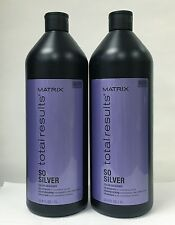 Matrix Total Results So Silver Color Care  33.8 oz 1 Liter 2 PACK SPECIAL