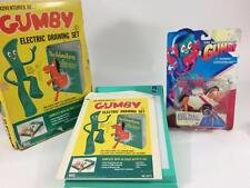 Gumby Toy Vtg 2 pc Lot Superflex Space Pokey 1966 Adventure Electric Drawing Set