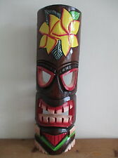 FAIR TRADE Hand Carved Wooden Tiki Mask Wall Hanging Design #13