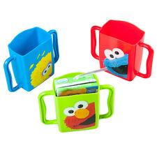 3 Evriholder Sesame Street Juice Box Holders Sippy Cup Drink Mug Handle Baby Kid