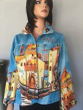 Women Jacket M Italy Venice Designer Fashion  Hip Chic Images Gondola  Houses
